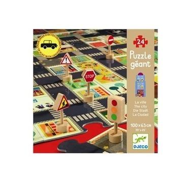Kæmpe puslespil - byen