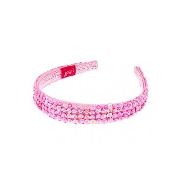 Hårbøjle, Desiree - rosa palietter