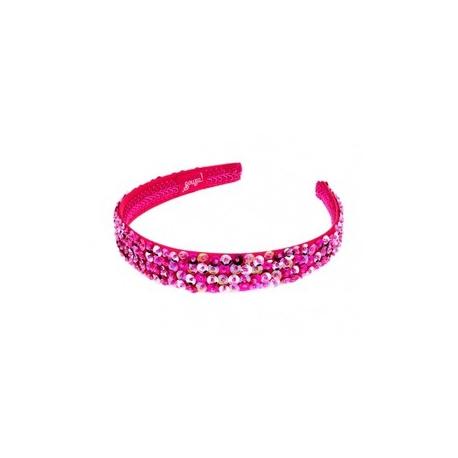 Hårbøjle, Desiree - pink palietter