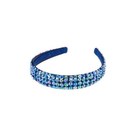 Hårbøjle, Desiree - Mørk blå palietter