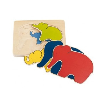 5 lags puslespil - Elefant
