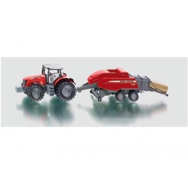Traktor med halmpresse - 1951