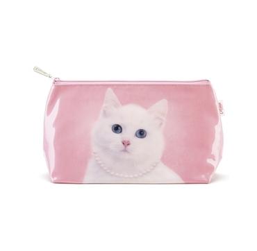 Toilet taske lyserød kat