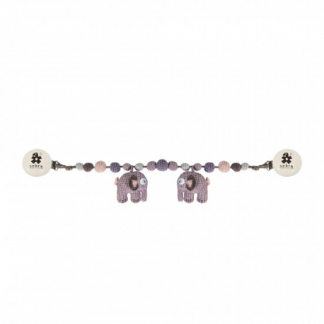 Barnevogns kæde - Pastel rosa