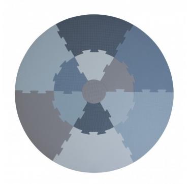 Legegulv - Blå
