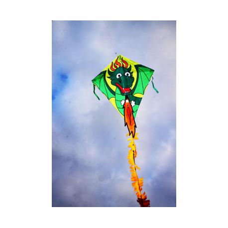 Drage med grøn drage