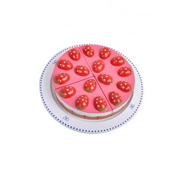 Jordbærtærte i træ