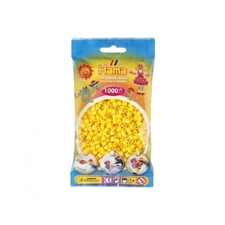 Hama perler gul sort