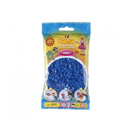 Hama perler blå