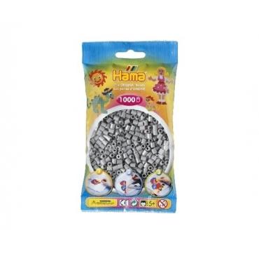 Hama perler grå