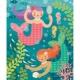 Havfrue puslespil 64 brikker