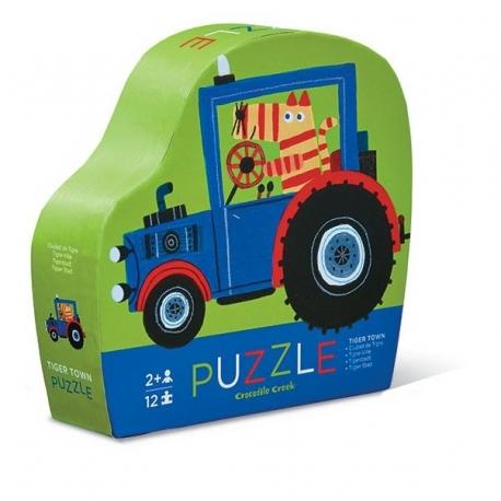 Puslespil med traktor