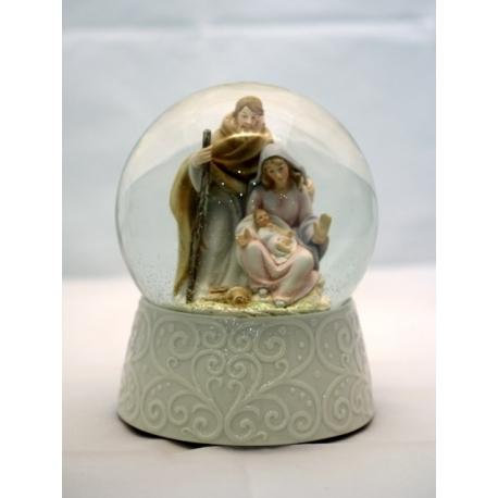Glaskugle med Jesus og Jomfrumaria