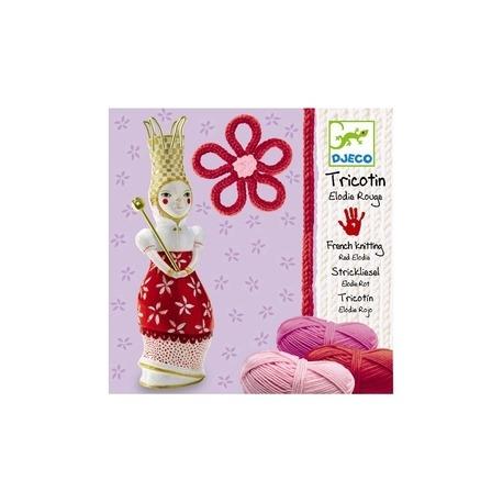 Djeco strikkelise rød porcelæn