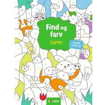 Find og farv - Dyrene