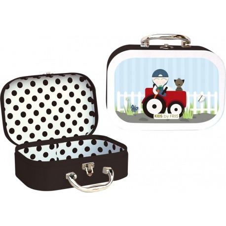 Kids by friis kuffert med traktor
