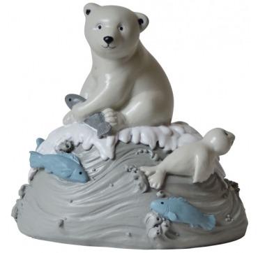 Kids BY Friis sparebøsse isbjørn