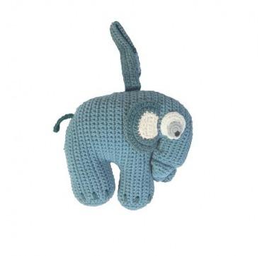 Sebra musik Elefant lyseblå