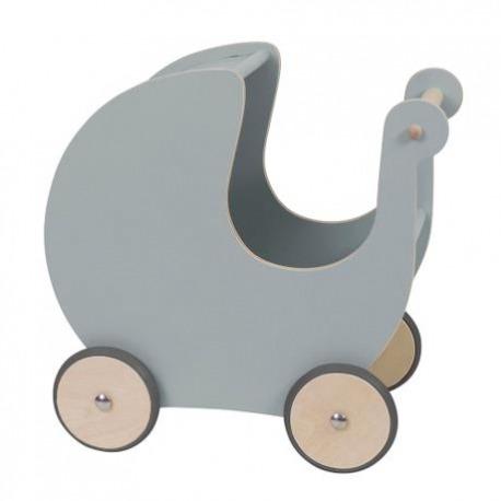 Sebra grå Dukkevogn