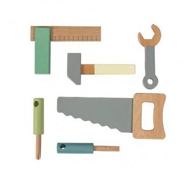 Værktøjssæt i træ