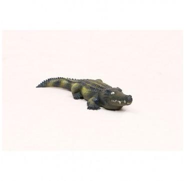 Stor krokodille natur gummi