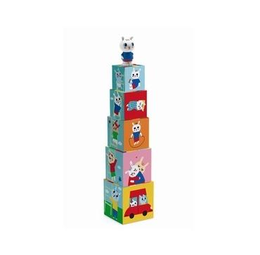 Djeco stabeltårn med kanin figur
