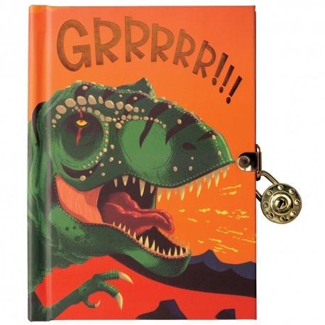 Dagbog med lås Dino