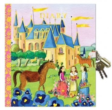 Dagbog med lås prinsesser