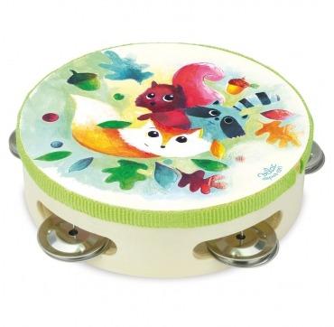 Fin tamburin med dyr