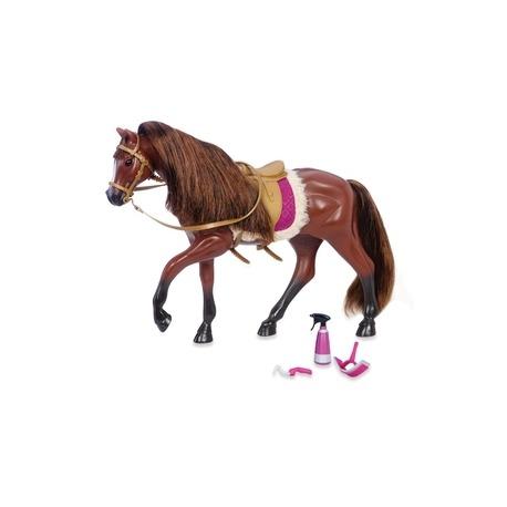 Lori mørkebrun Hest