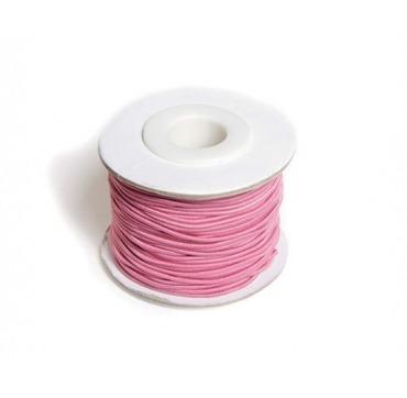 Rosa elastiksnor til perler