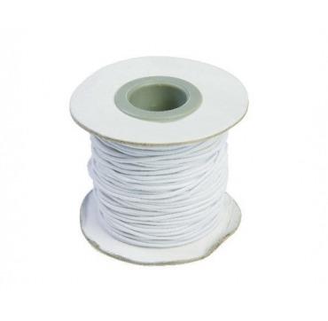 Hvid elastiksnor