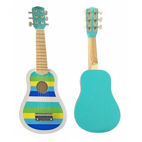 Guitar men blå striber