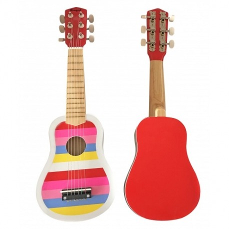Guitar rød med striber