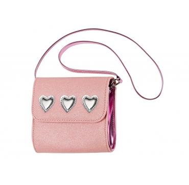 Lyserød taske med hjerter