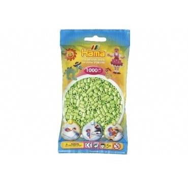Hama perler pastelgrøn farve 47