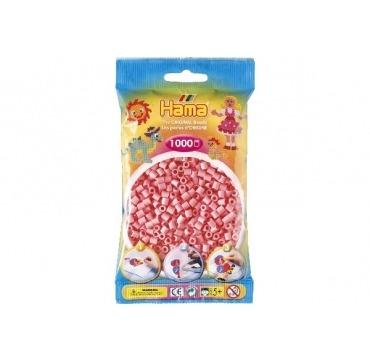 Hama perler lyserøde farve 06
