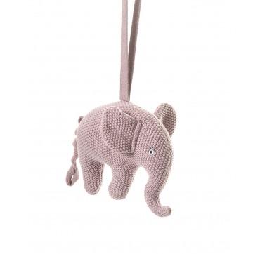 Sebra lyserød musik elefant