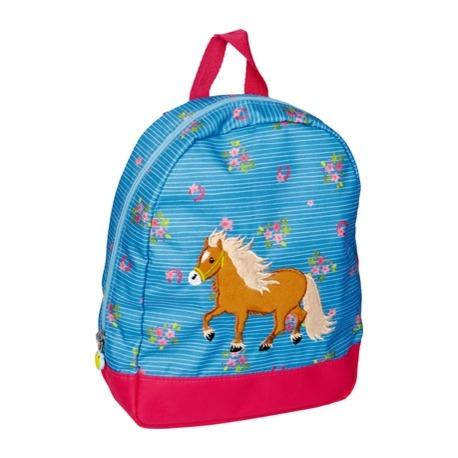 Heste rygsæk blå