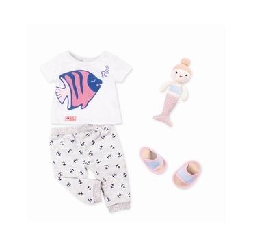 Our Generation nattøj med lille havefrue bamse