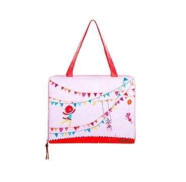 Lilliputiens taske med blok og farver