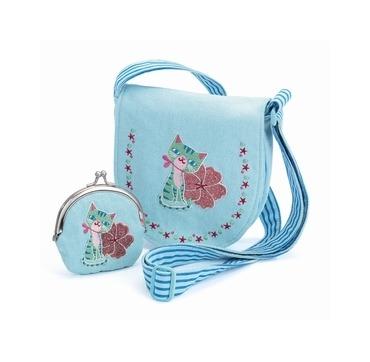 Djeco søde lille blå taske med pung