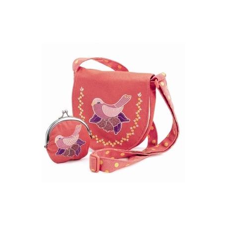 Djeco sød lille taske rød med lille pung