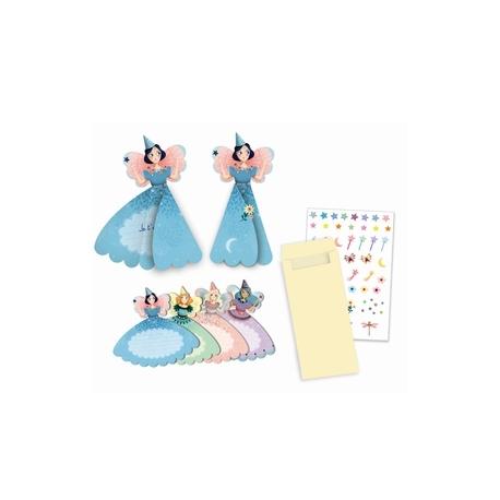 Djeco invitations kort prinsesser
