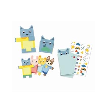 Djeco invitatons kort med søde dyr