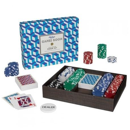 Poker set i flot æske