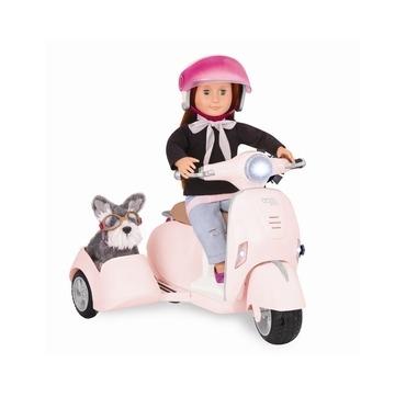 Our Generation scooter med sidevogn