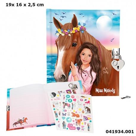 Heste dagbog med lås