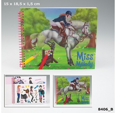Topmodel lomme malebog med heste