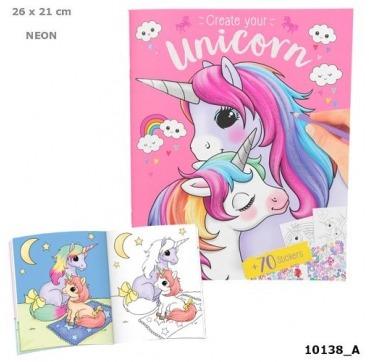 Topmodel med unicorn malebog